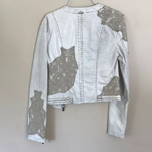 BKE Jackets & Coats - NWT Faux-Leather and Lace BKE Jacket